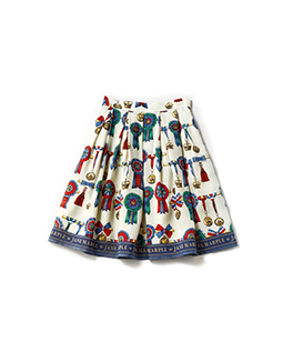 Royal riding club tuck skirt