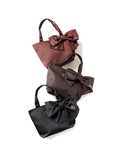 Shape memory twill ribbon tote bag