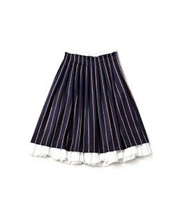 College stripe bicolor skirt