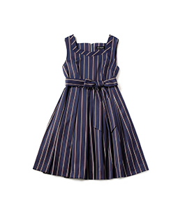 College stripe dormitory dress