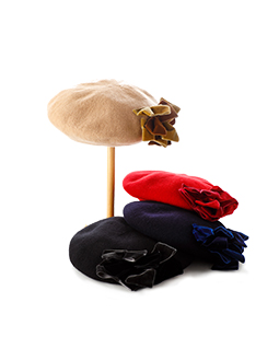 Multiple ribbon beret