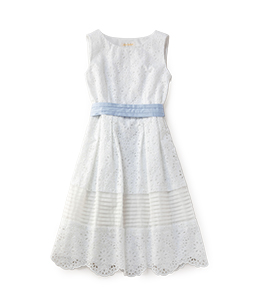 Precious lace sleeveless dress