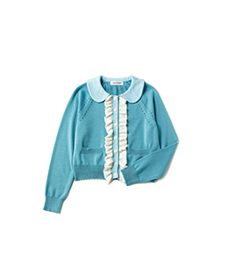 Front frill cardigan