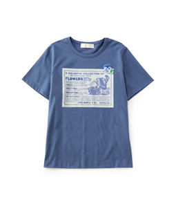 Organic T-cloth violette label T-shirt