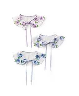 Pansy embroidery spare collar