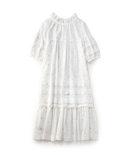 Margaret embroidery empire dress