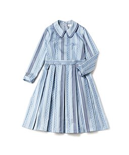 Ribbon jacquard stripe dormitory dress