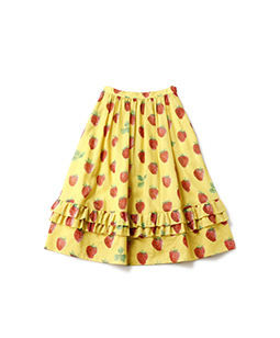 Strawberry field cocoon skirt
