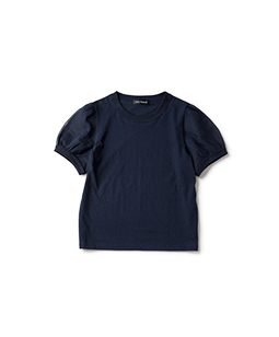 Organdy sleeve T-shirt