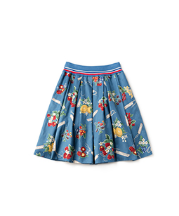 Juicy fruits tuck skirt