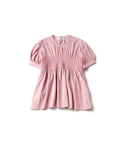 Soft T-cloth smocking blouse
