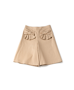 Ribbon pocket culottes pants