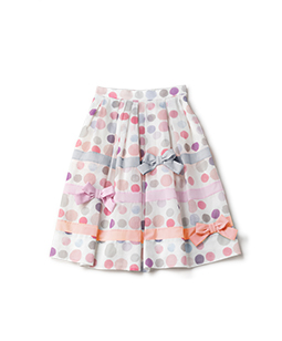 Candy's dot tuck skirt