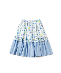 Candy's dot organdy tiered skirt