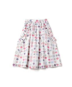 Candy's dot side frill skirt