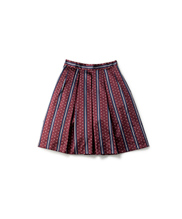 Regimental stripe bell skirt