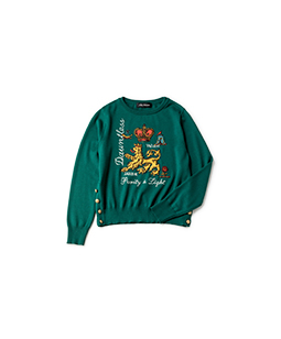 Joyful crest EMB sweater