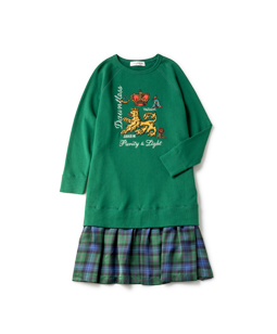 Joyful crest EMB sweat shirt dress