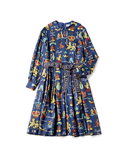 Joyful crest dormitory collar dress