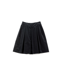 Cotton velvet bell skirt