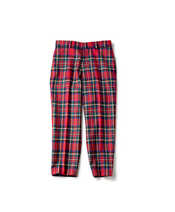 Wool tartan chester pants