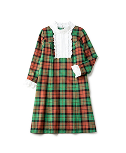 Wool tartan cedric dress