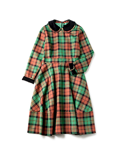 Wool tartan dormitory dress