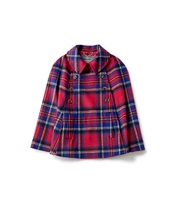 Big tartan cape coat