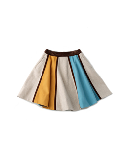 Color block gored skirt