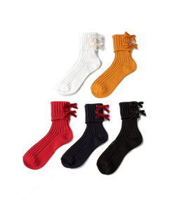Back ribbon socks