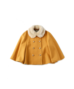 Fur collar cape jacket