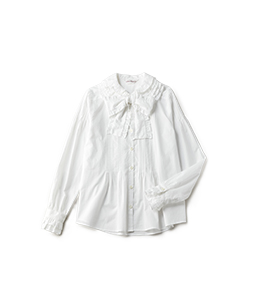 Millefeuille frill collar blouse