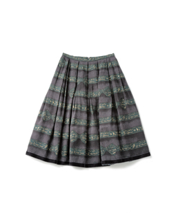 Theme Logo Ribbon midi skirt