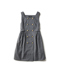 British stripe double breasted dress