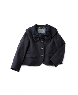 Ribbon cape collar jacket
