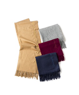 Wool cashmere stole