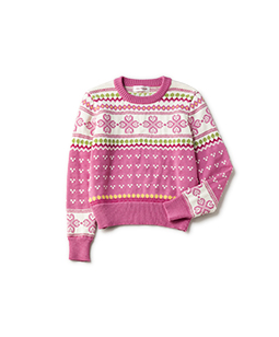 Fine merino fair isle sweater