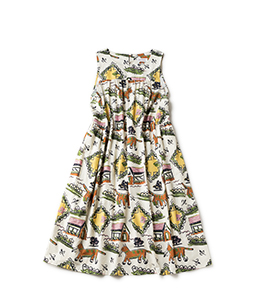 Strolling cat tablier dress