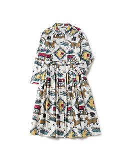 Strolling cat shirt dress