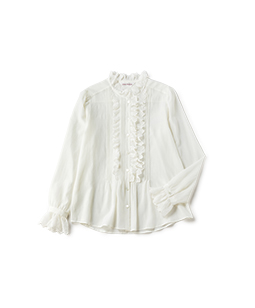 Cotton tulle lace victorian blouse