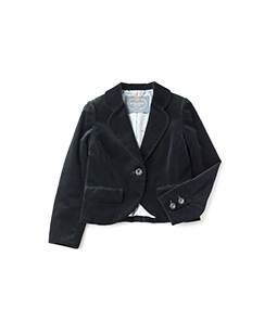 Cotton velvet swallowtail jacket