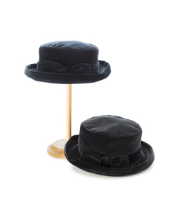 Cotton velvet hat