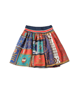 Royal Flag tartan 2Face skirt