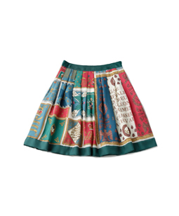 Royal Flag tuck skirt