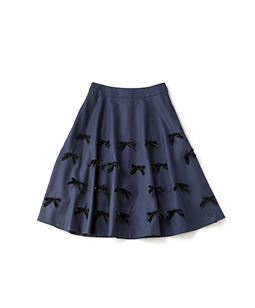 Joyful ribbon flare skirt