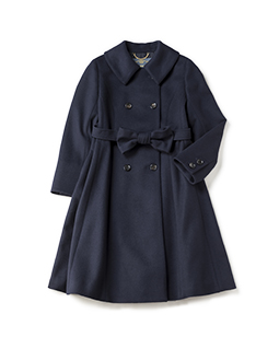 Ribbon belt gored coat