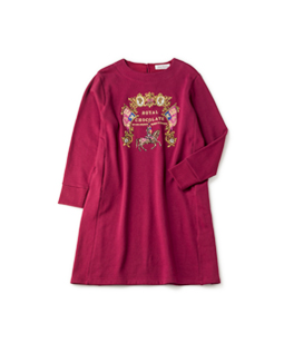 Royal chocolate EMB sweatshirt dress