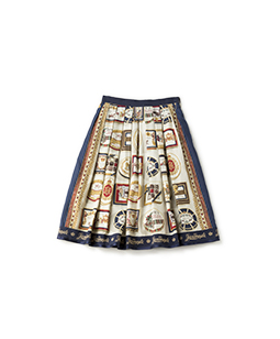 Royal chocolate tuck skirt