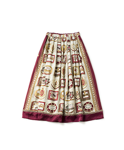 Royal chocolate long skirt