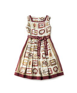 Royal chocolate square dress